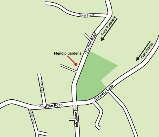 Mendip Gardens map