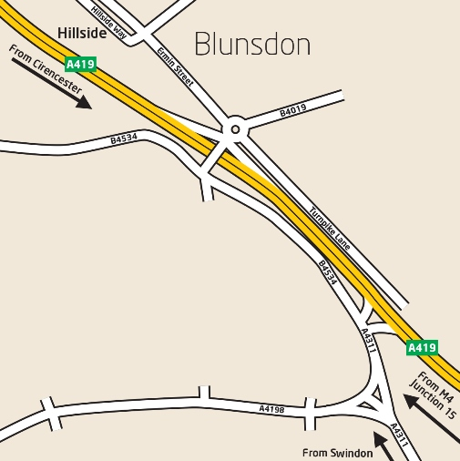 Hillside Blunsdon map
