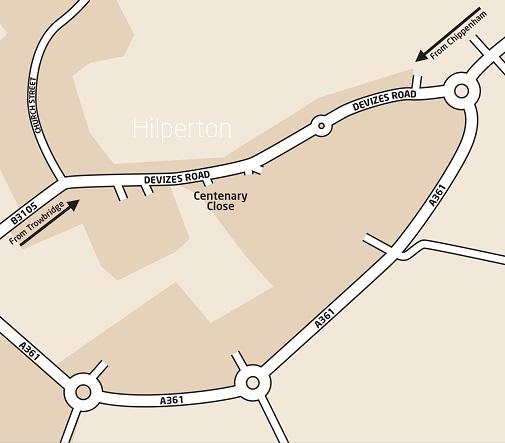 Hilperton Street Map