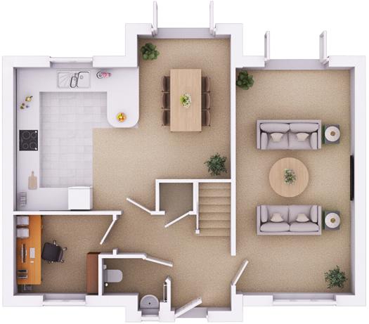 The Edington ground floorplan