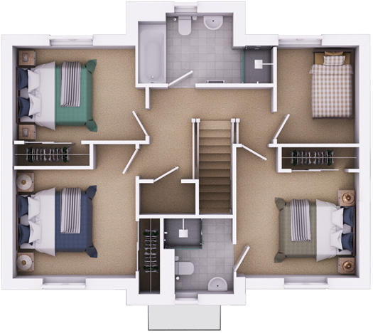 The Edington first floorplan