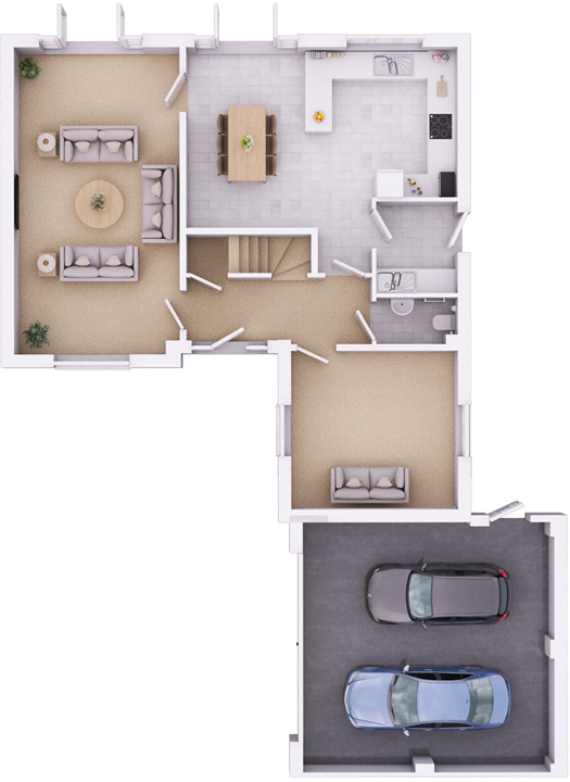 The Ramsbury ground floorplan