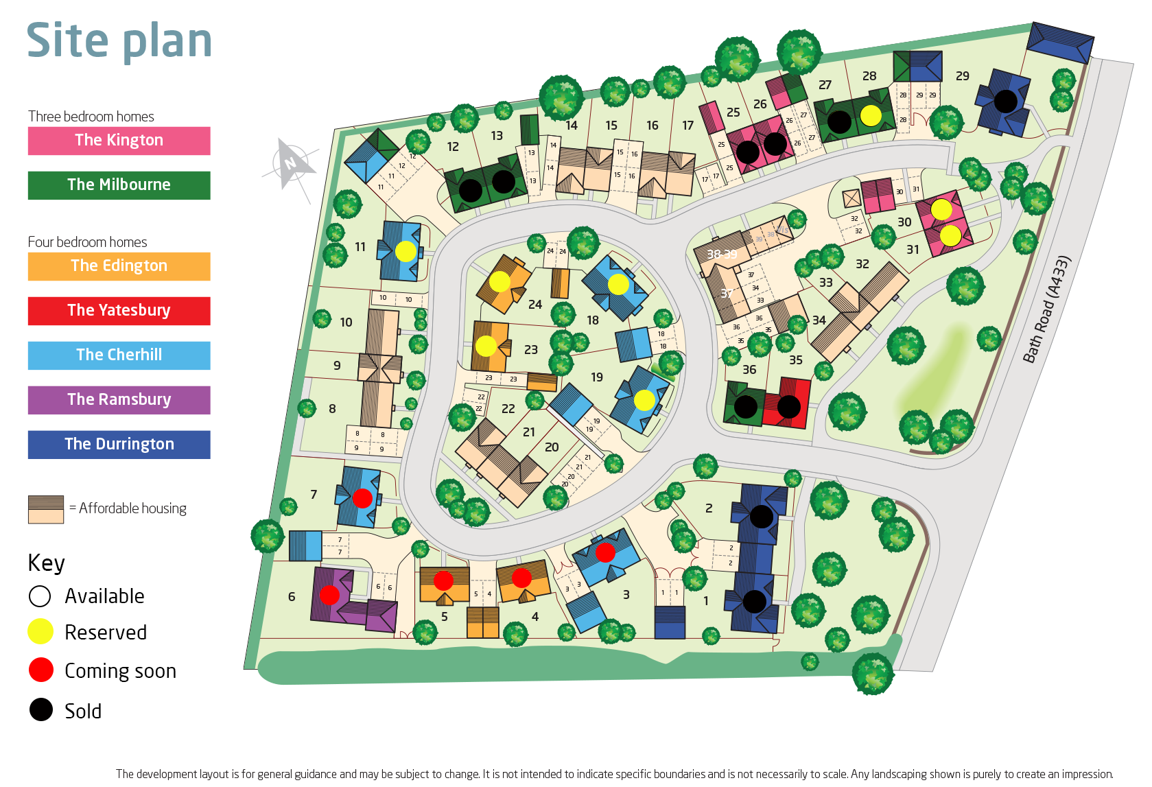 Whitelands site layout