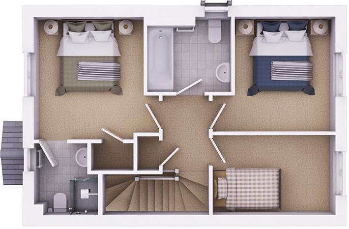 The Kington first floor plan