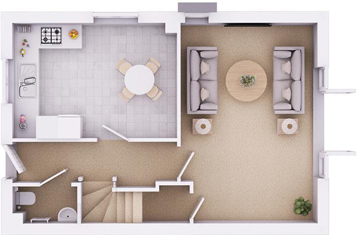 The Kington ground floor plan