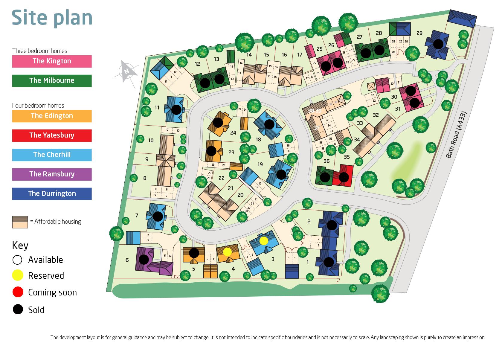 Whitelands site layout